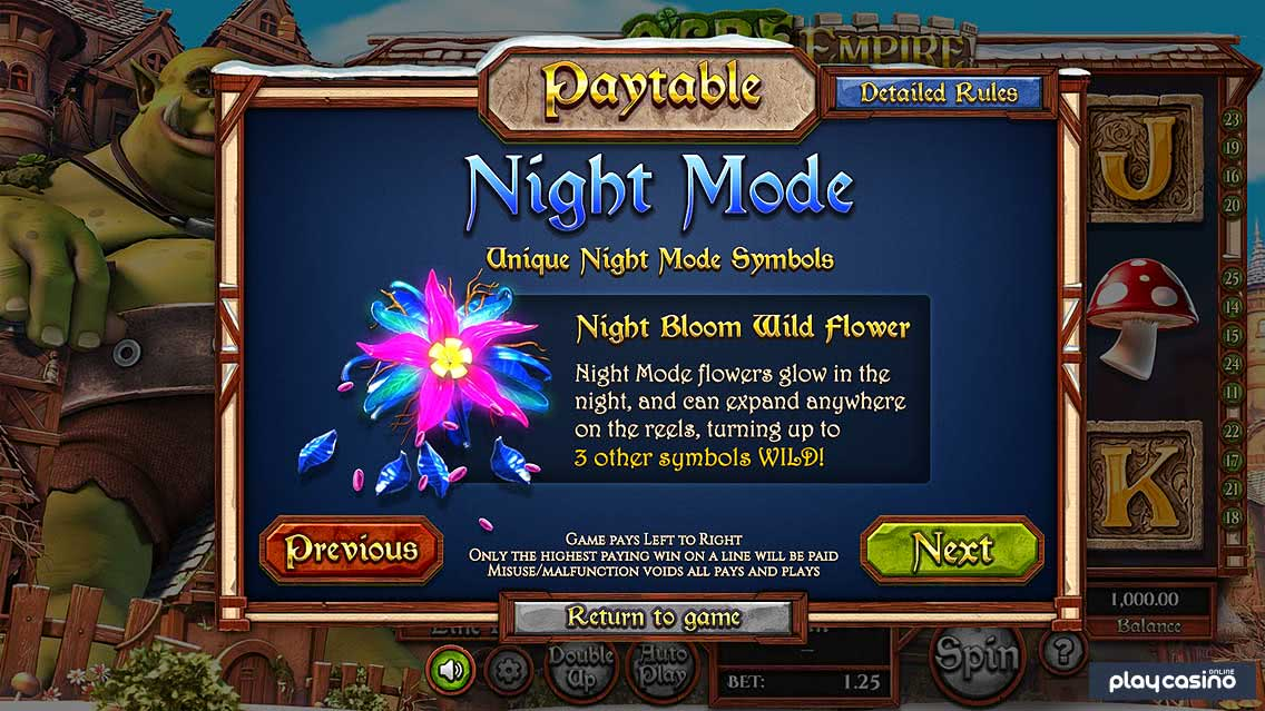 Night Bloom Wild Flower in Ogre Empire's Night Mode