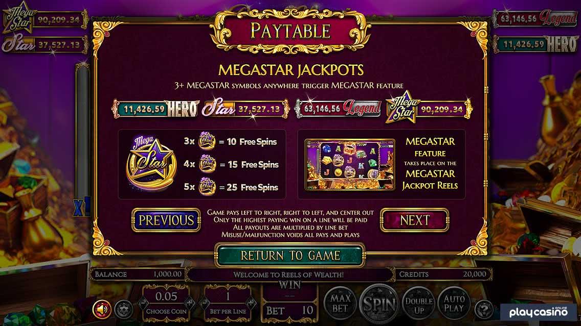 MegaStar Jackpots