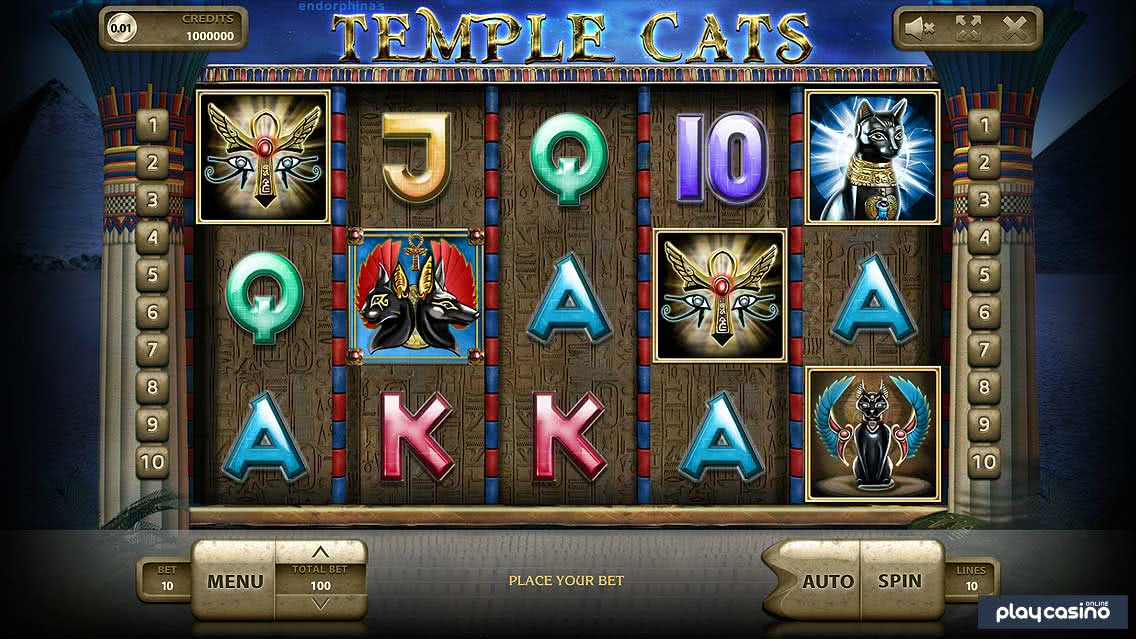 Temple Cats Slot In Game Screenshot