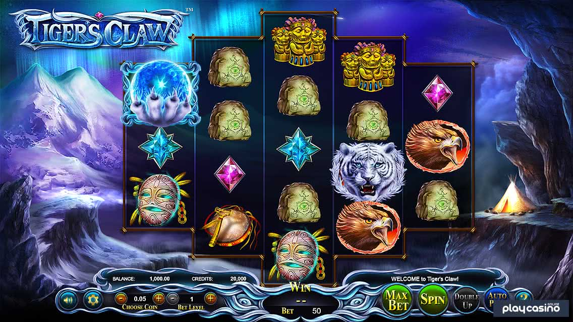Screenshot of the Tiger's Claw Slot Game