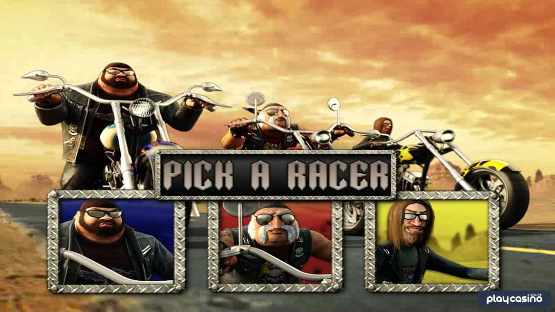 Slots Angels - Biker Race Bonus Round