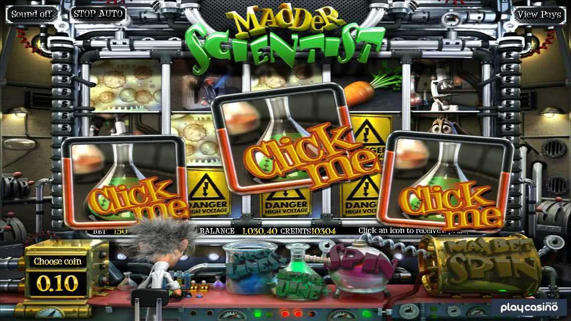 "Madder Scientist - ""Click Me "" Beaker Bonus Round"