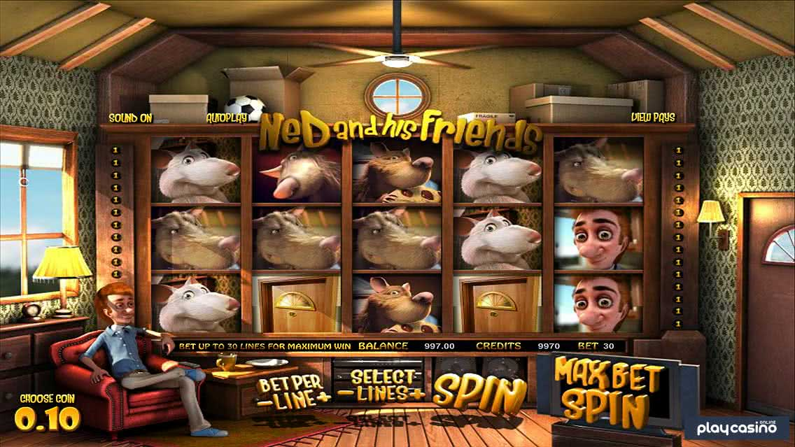 Screenshot of the Ned and His Friends Slot Game