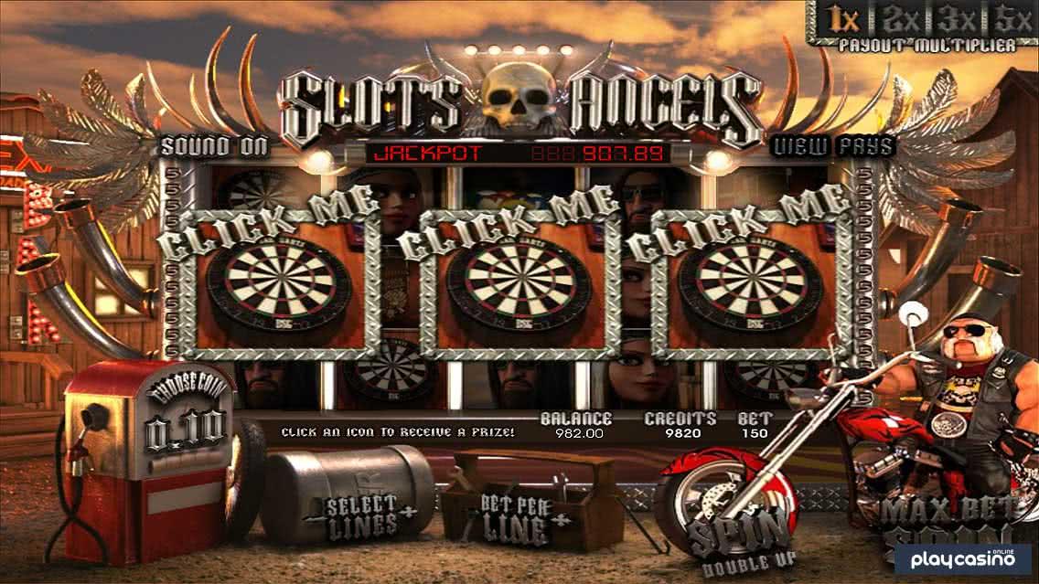 Slots Angels - Darts Bonus Feature