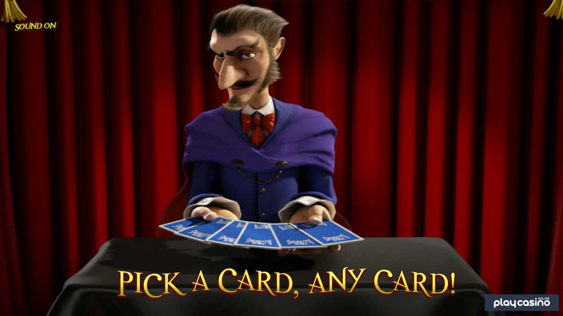 True Illusions Slot - Card Picking Bonus Feature