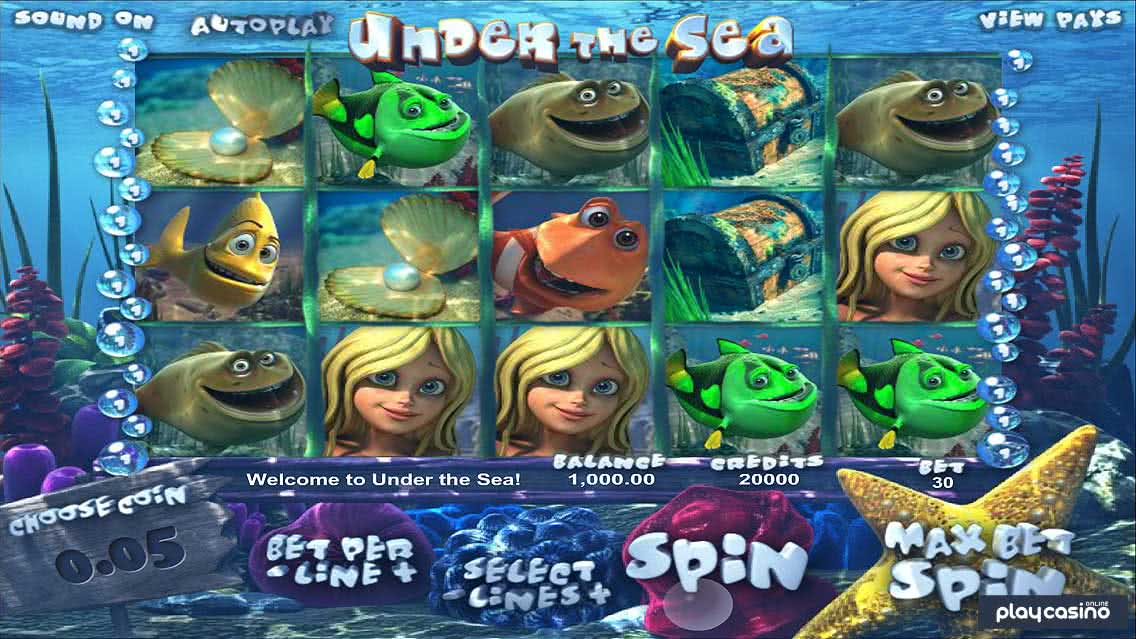 Under the Sea Screenshot of the Slot Game