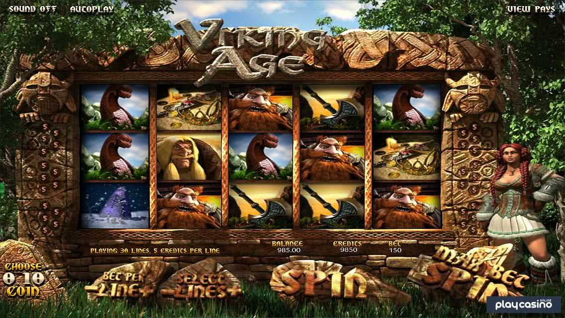 Screenshot of the Viking Age Slot Game